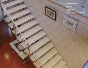 schody wykonane ze spieku kwarcowego LAMINAM
