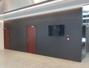 ściany wewnętrzne ze spieków kwarcowych LAMINAM