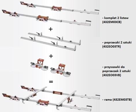 Raimondi EasyMove rama do transportu i montażu płyt wielkoformatowych laminam i monolith